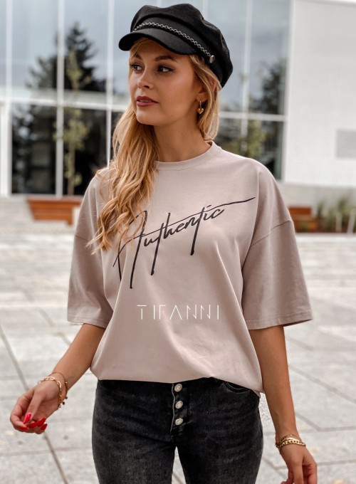 T-shirt Authentic beżowy 2