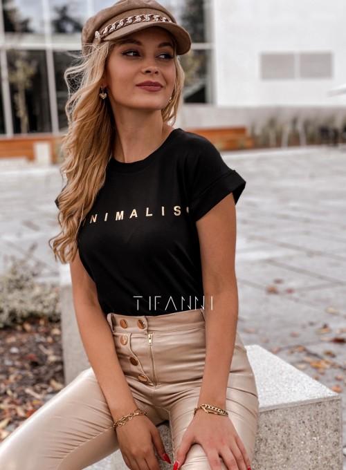 T-shirt minimalist czarny