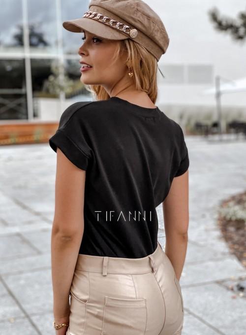 T-shirt minimalist czarny 2