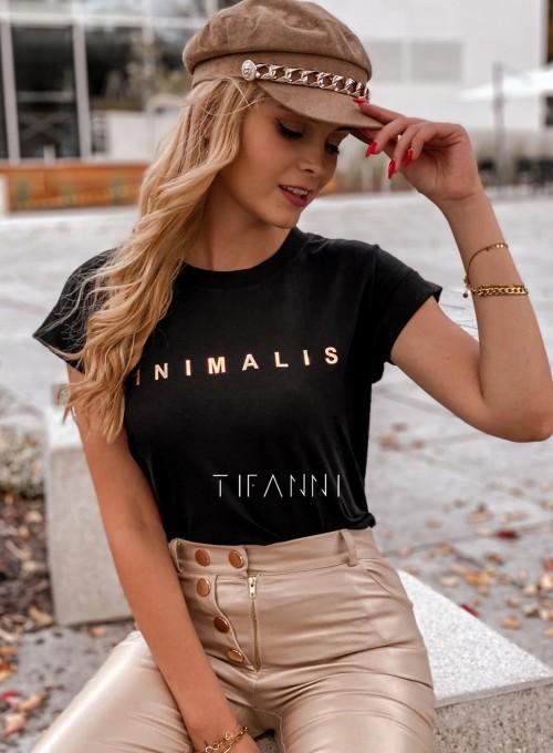 T-shirt minimalist czarny 3
