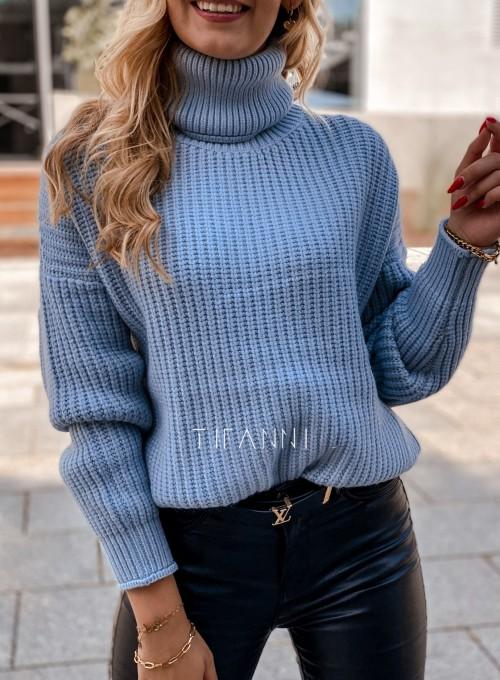 Sweter golf Blanco błękitny 3