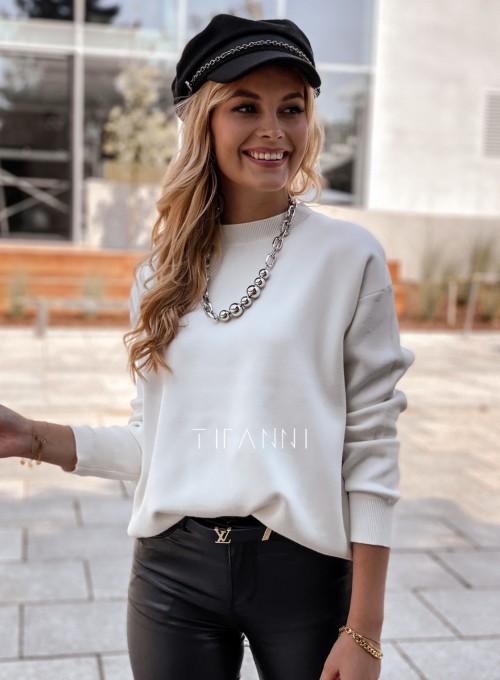 Bluzka sweter z łańcuszkiem Marco ecru 4