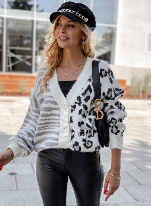 Sweter Angie rozpinany szary