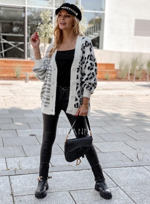 Sweter Angie rozpinany szary 2