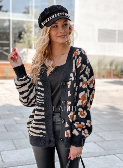 Sweter Angie rozpinany czarny 1