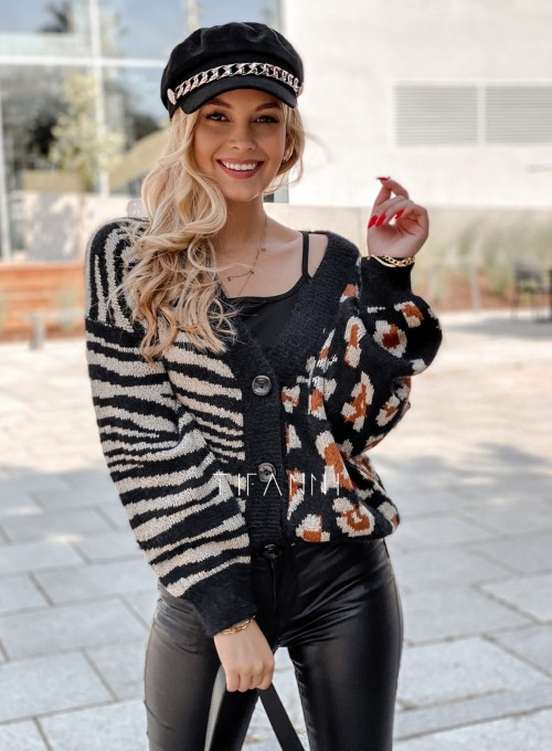 Sweter Angie rozpinany czarny 2