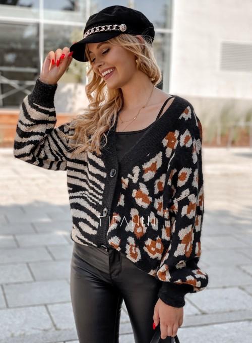 Sweter Angie rozpinany czarny 4