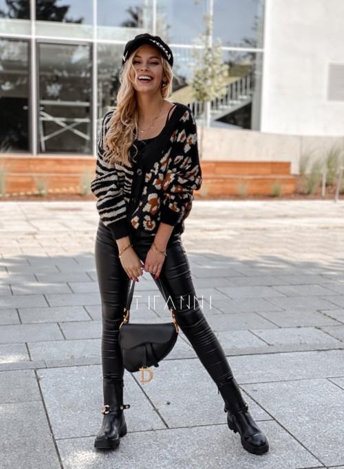 Sweter Angie rozpinany czarny 5