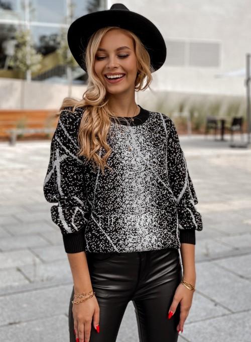 Sweter Dodi czarno - biały