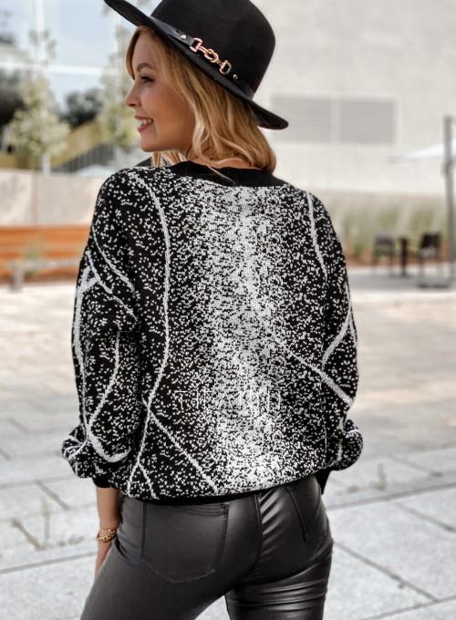 Sweter Dodi czarno - biały 4