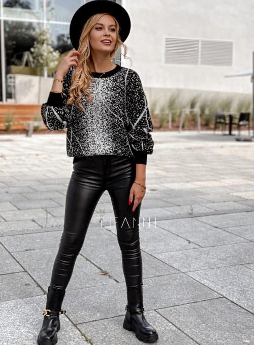 Sweter Dodi czarno - biały 5