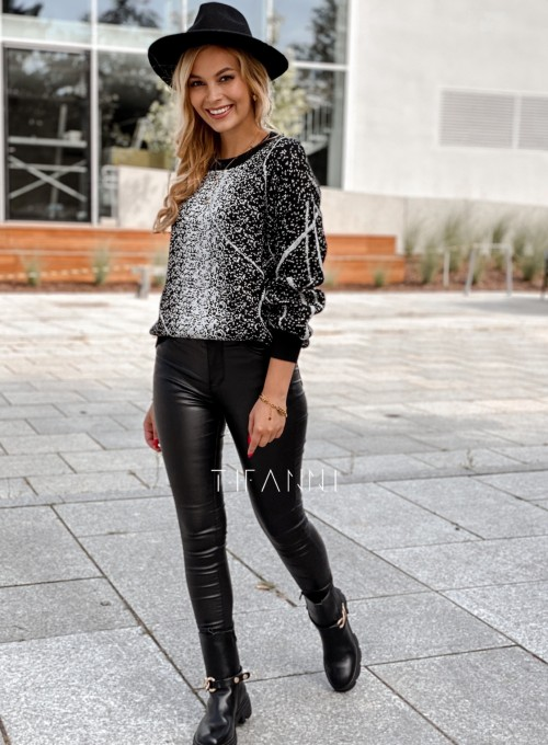 Sweter Dodi czarno - biały 6