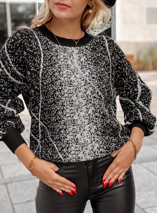 Sweter Dodi czarno - biały 1