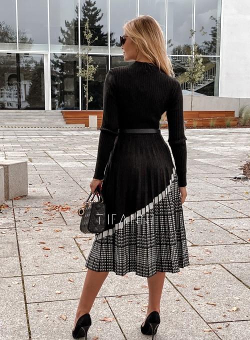Sukienka Kaja dzianinowa czarna 2