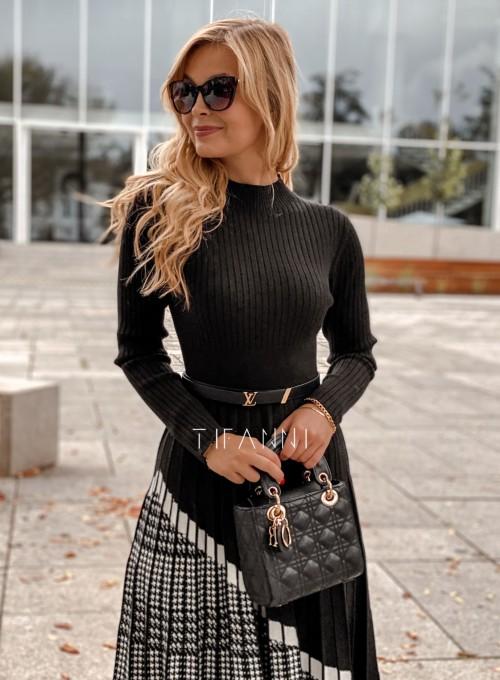 Sukienka Kaja dzianinowa czarna 1