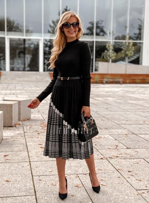 Sukienka Kaja dzianinowa czarna 3