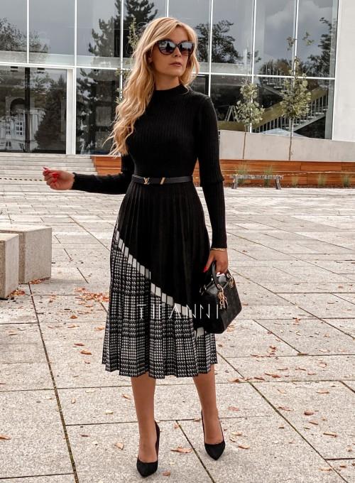 Sukienka Kaja dzianinowa czarna 4