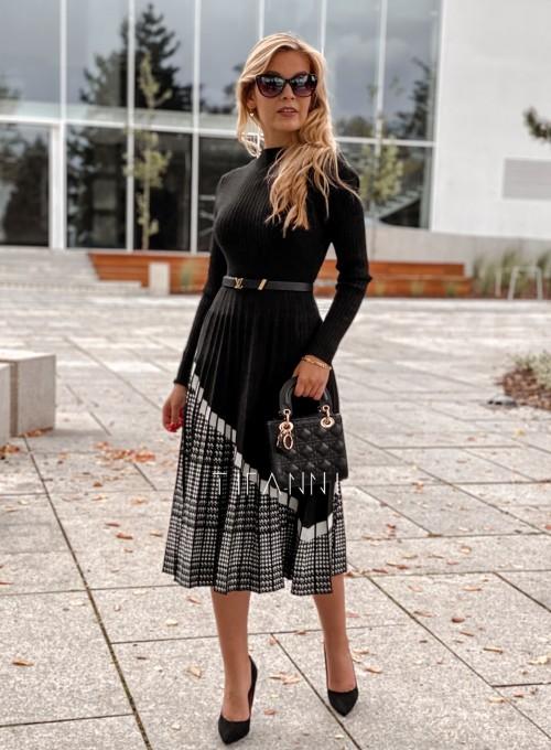 Sukienka Kaja dzianinowa czarna 5