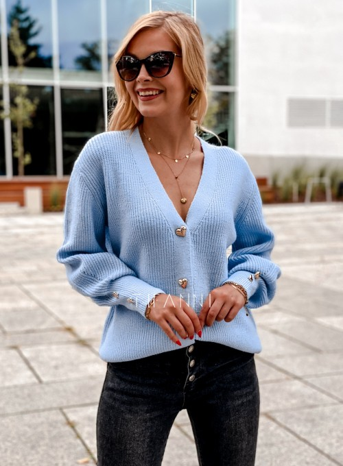 Rozpinany sweter Loret blue
