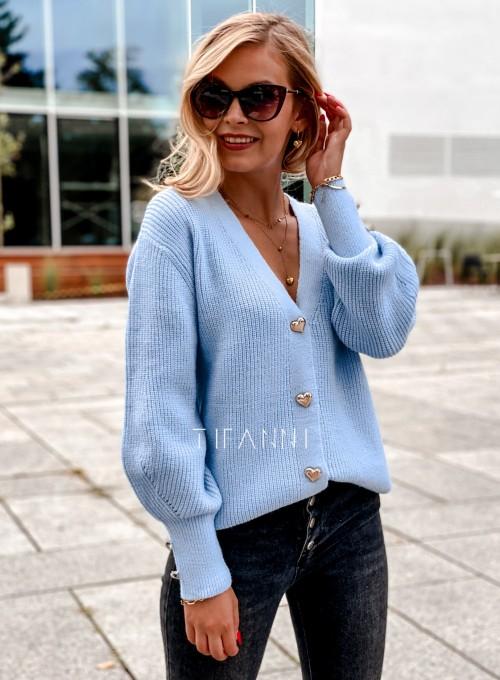 Rozpinany sweter Loret blue 2