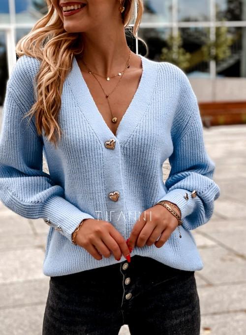 Rozpinany sweter Loret blue 1
