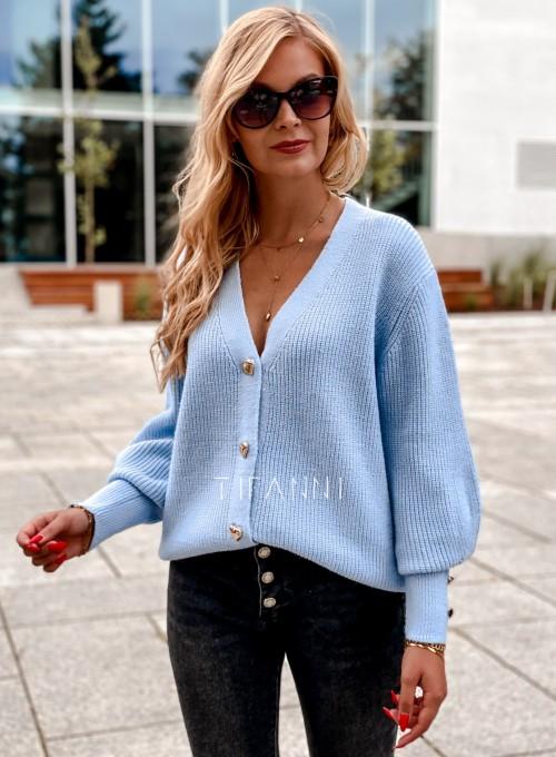 Rozpinany sweter Loret blue 3