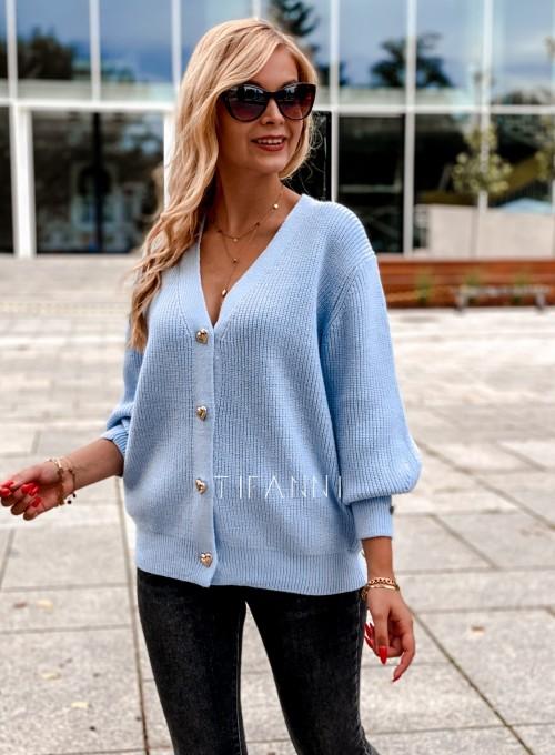 Rozpinany sweter Loret blue 4