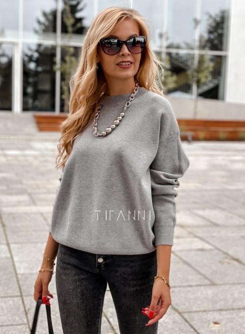 Bluzka sweter z łańcuszkiem Marco szara 6