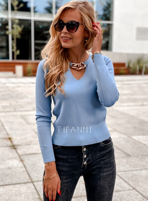 Bluzka z łańcuchem na dekolcie Brandi blue 5