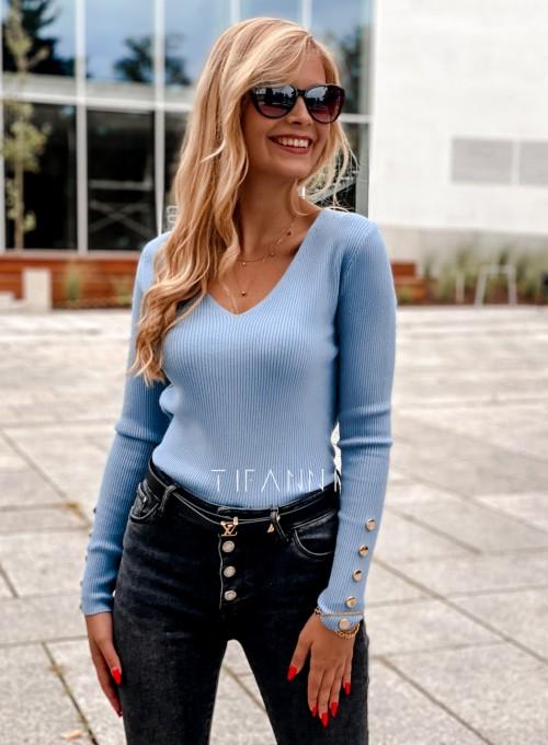 Bluzka z guziczkami na rękawie Bari blue 3