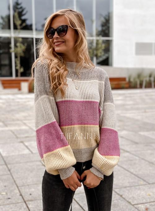 Sweter Malibu szary