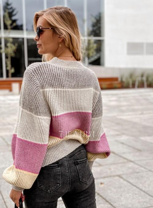 Sweter Malibu szary 4