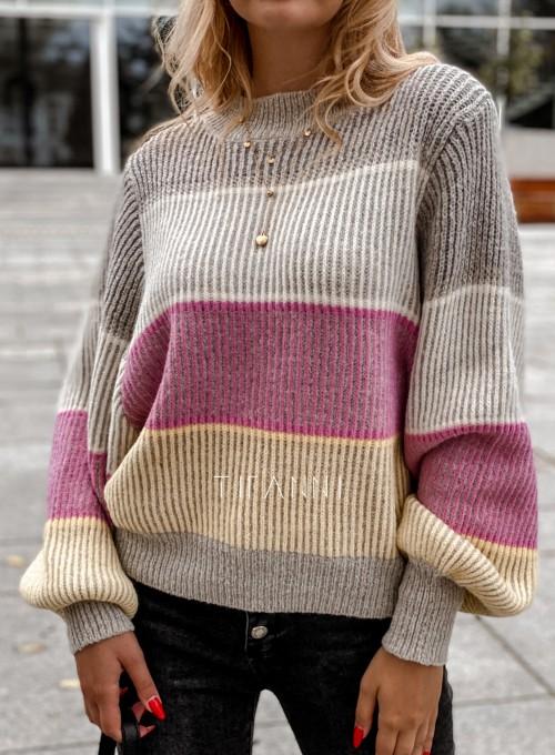 Sweter Malibu szary 1