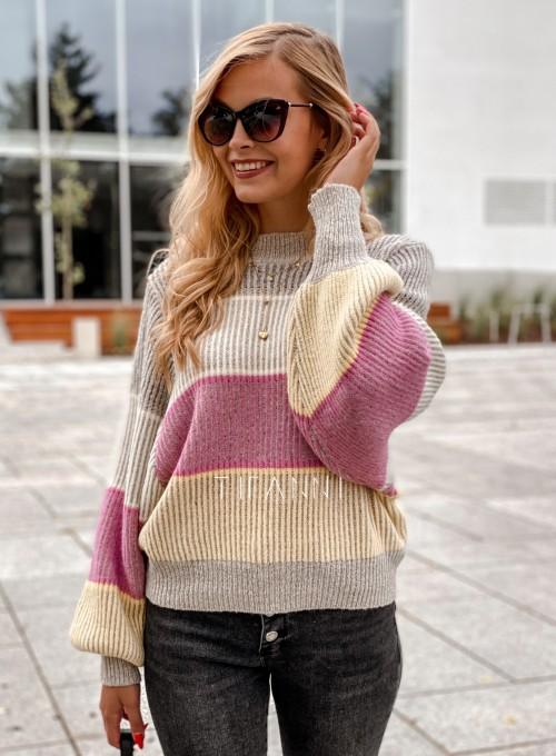 Sweter Malibu szary 5
