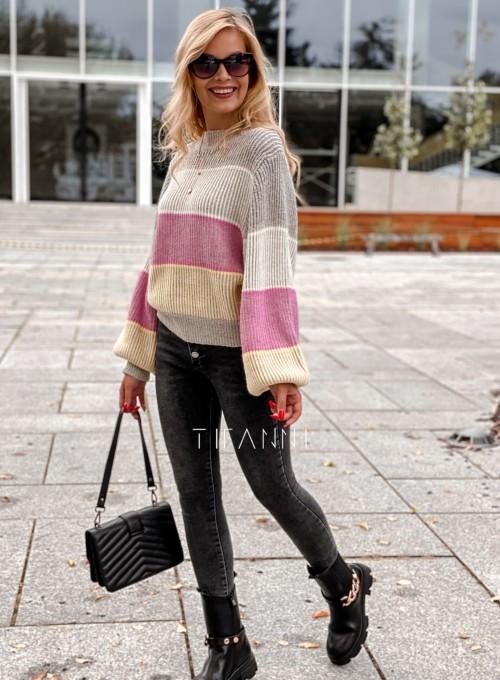 Sweter Malibu szary 2