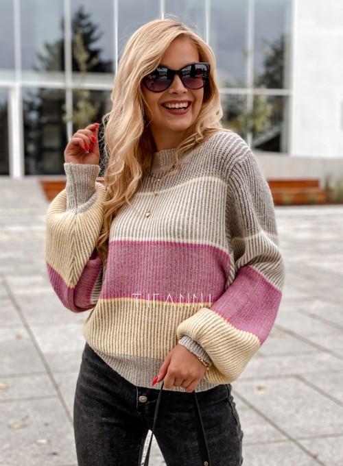 Sweter Malibu szary 3