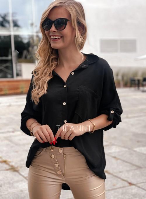 Koszula z łańcuchem na plecach Memphis czarna 2