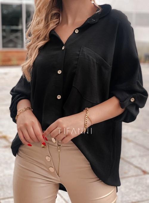 Koszula z łańcuchem na plecach Memphis czarna 5