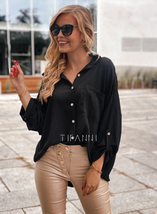 Koszula z łańcuchem na plecach Memphis czarna 1