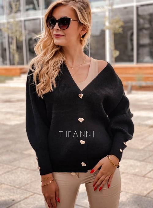 Rozpinany sweter Loret czarny 3