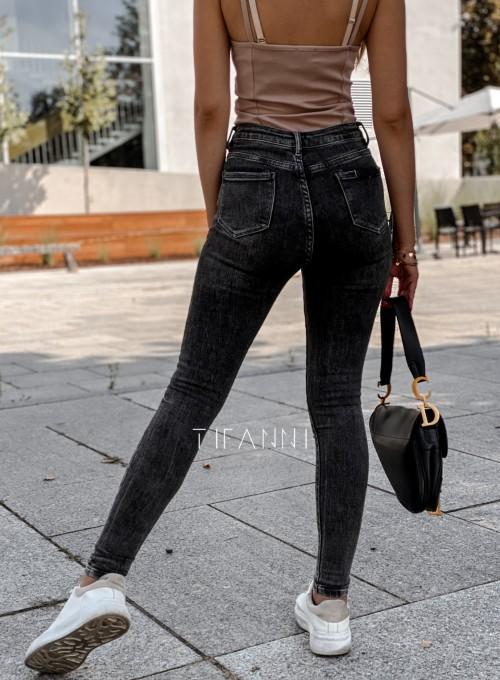 Spodnie czarne jeansowe Elis 1