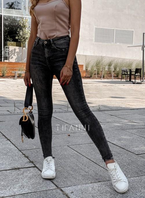 Spodnie czarne jeansowe Elis 2