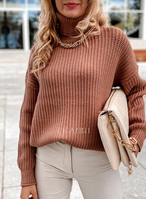 Sweter golf Blanco karmelowy 1
