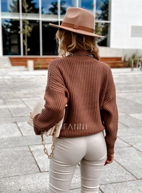 Sweter golf Blanco karmelowy 3