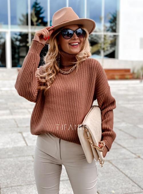 Sweter golf Blanco karmelowy 4