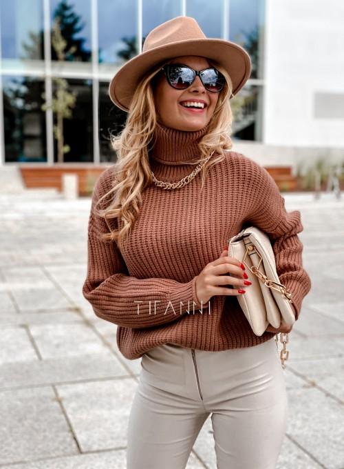 Sweter golf Blanco karmelowy 2