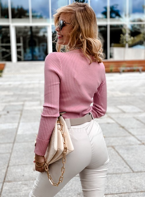 Bluzka Hellen w kolorze pudrowa 3