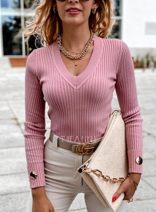 Bluzka Hellen w kolorze pudrowa 1