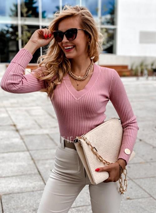 Bluzka Hellen w kolorze pudrowa 2