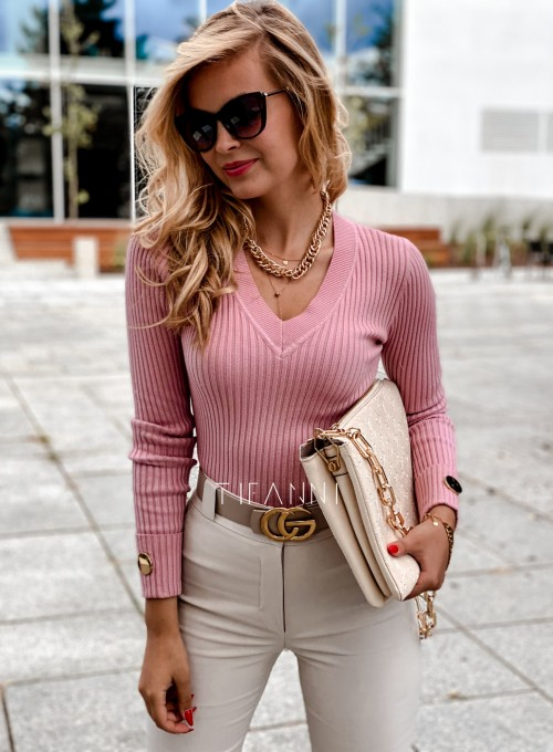 Bluzka Hellen w kolorze pudrowa 4